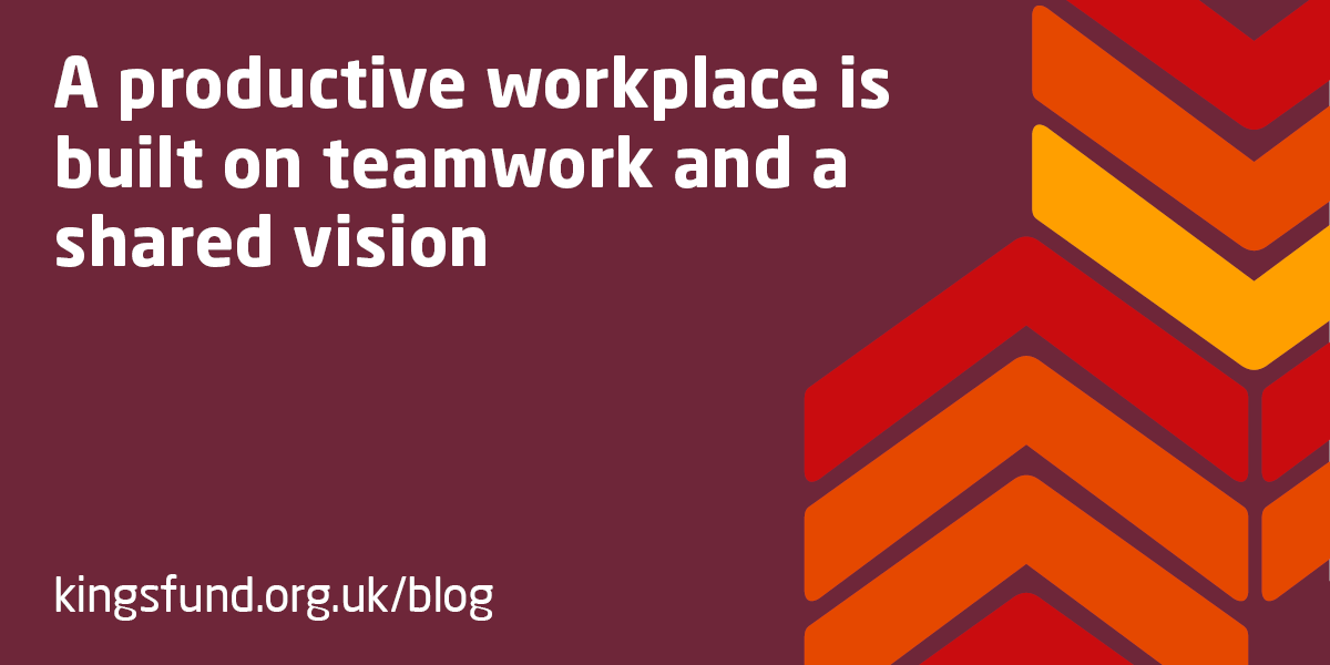 a productive workplace is built on teamwork and a shared vision