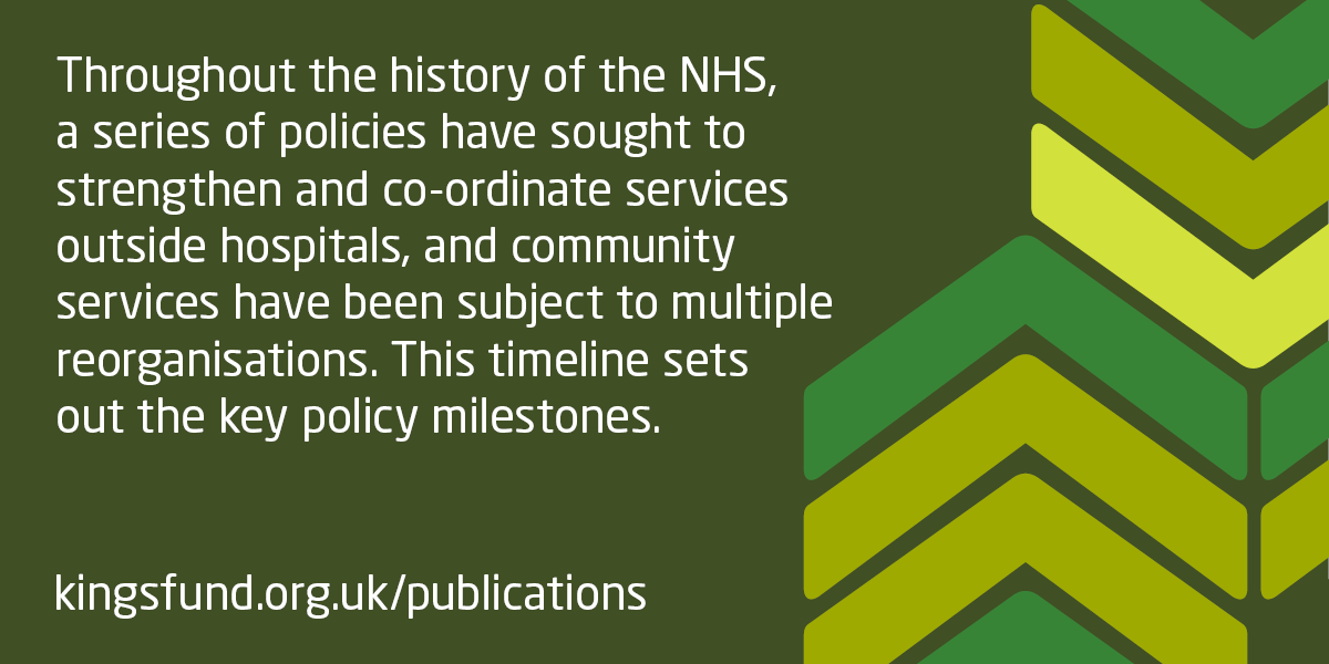 Key milestones in community health services policy | The