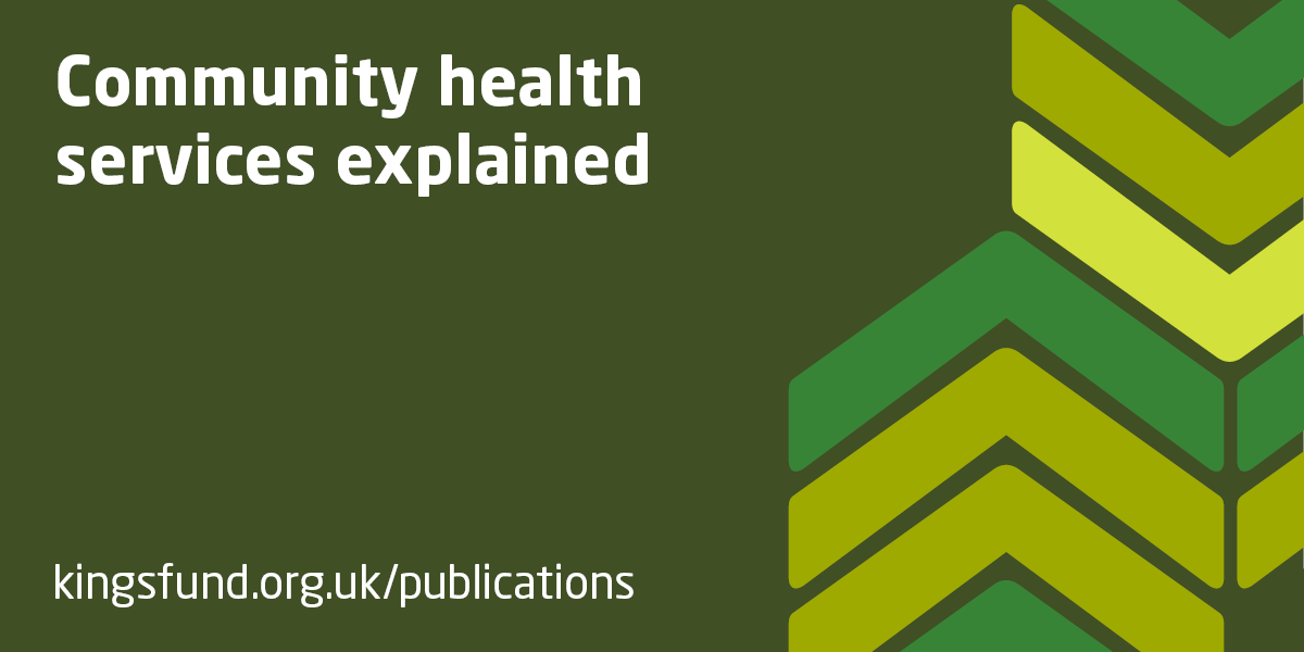 Community health services explained | The King's Fund