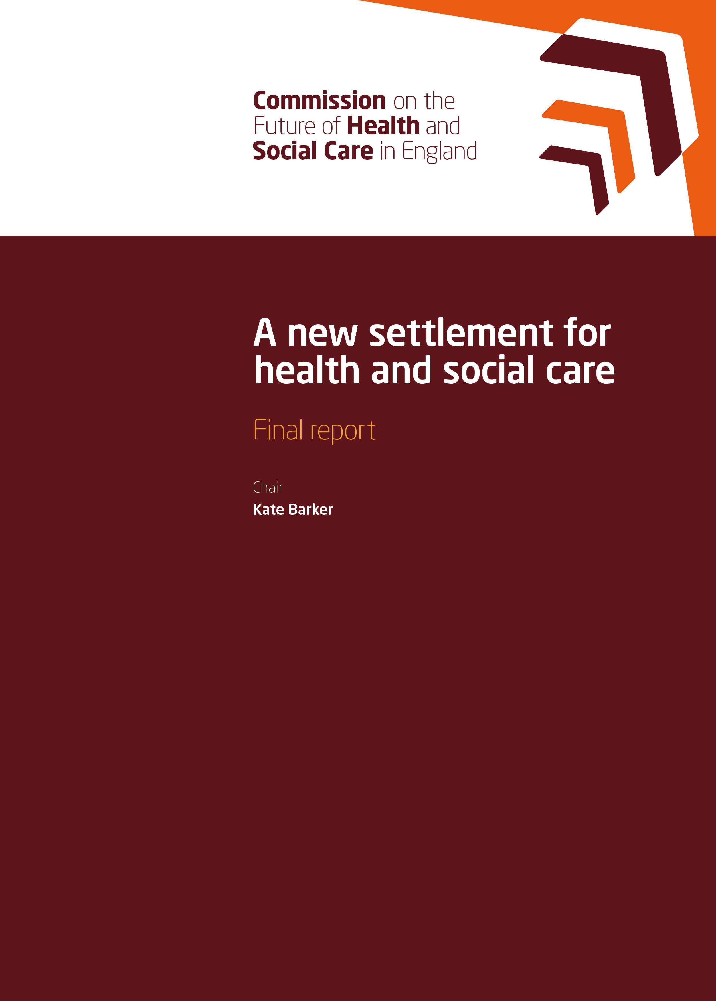 health and social care report Into health and social care was established, on a cross-party basis, to advise on how this challenge might best be met in our interim report, we emphasised that.