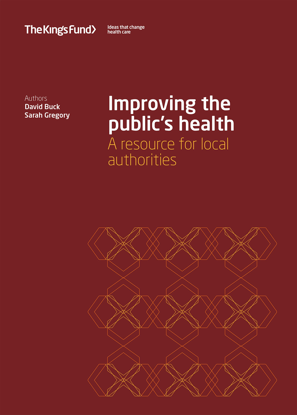 Improving the publics health front cover
