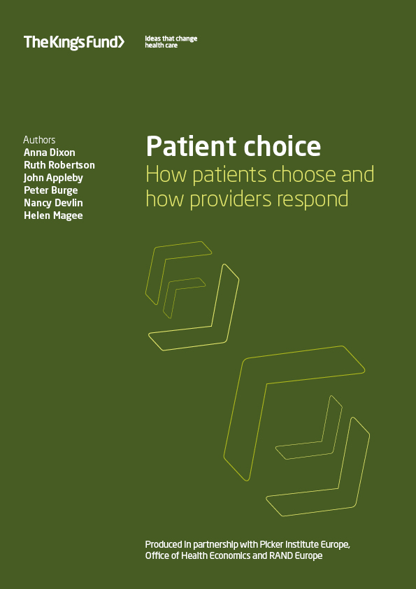 Patient choice | The King's Fund