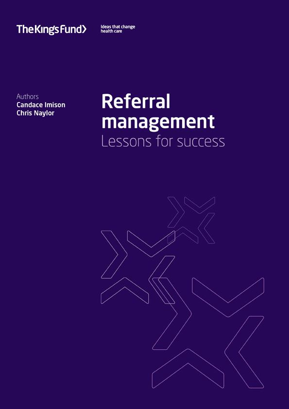 Referral Management The King S Fund