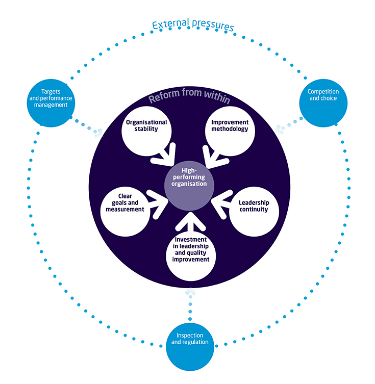Reforming the NHS from within: interactive diagram