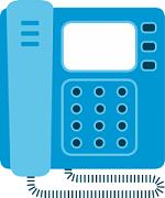 A desktop phone