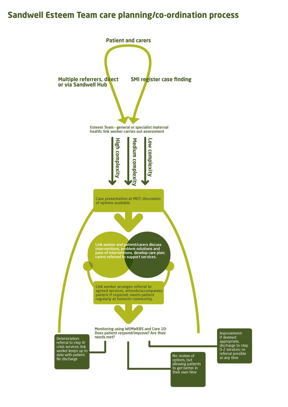 The Esteem Team care planning/co-ordination process