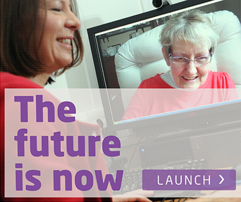 The future is now launch button