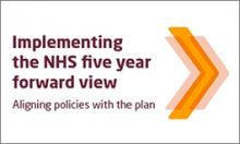 NHS five year forward view button