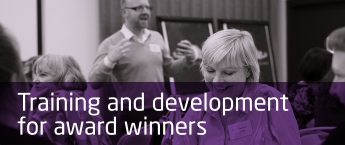 GSK IMPACT Awards - training and development for winners