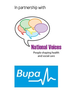 National Voices Bupa partnership logo