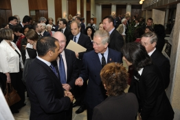 HRH The Prince of Wales meets leadership staff and participants our new conservatory