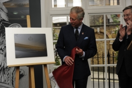 HRH The Prince of Wales unveils a plaque to officially launch new facilities at The King's Fund