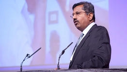 Dr Ravindran, of the Aravind Eye Care System at The King's Fund Annual Conference 2011