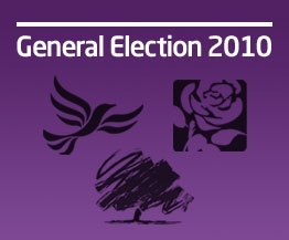 A button showing the Conservative, Labour and Liberal Democrat logos.