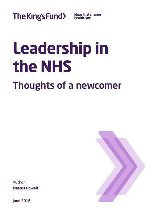 Leadership in the NHS - front cover