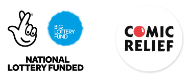 Big Lottery Fund and Comic Relief logos