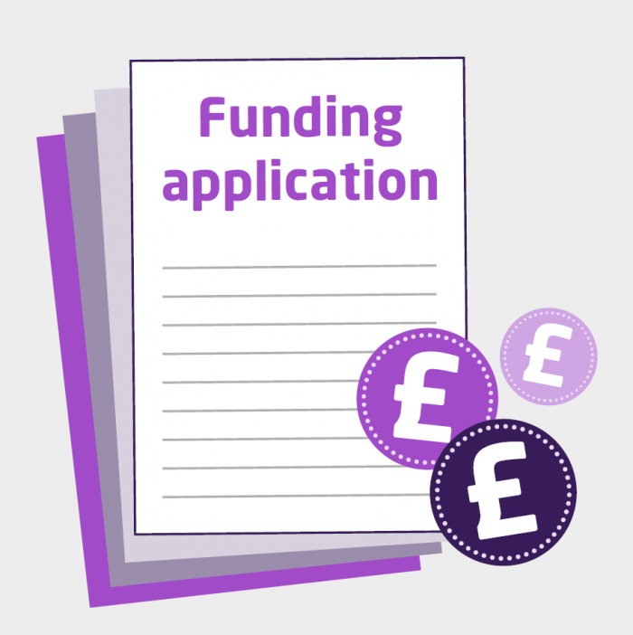 Funding application form and coins