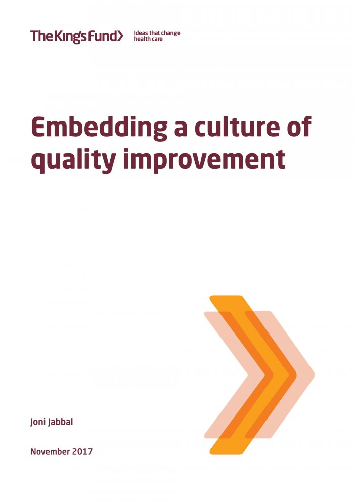 Embedding a culture of quality improvement
