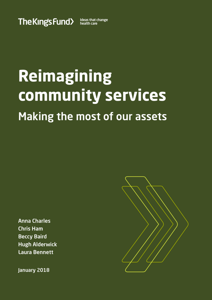 Cover image for reimagining community services report