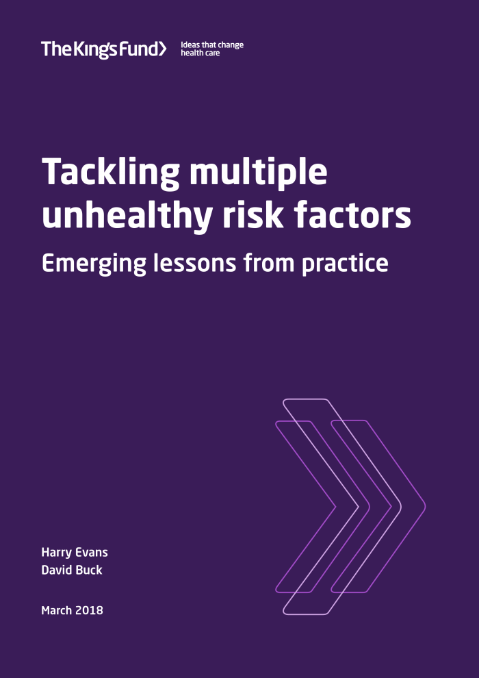 Tackling multiple unhealthy risk factors cover image