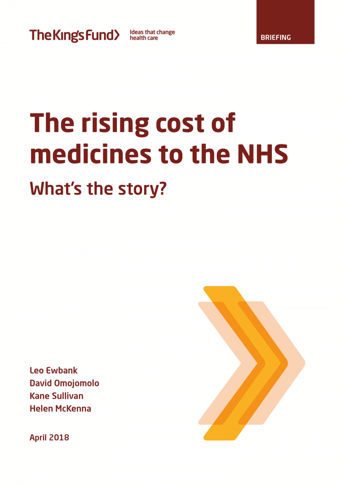 Rising cost of medicines front cover