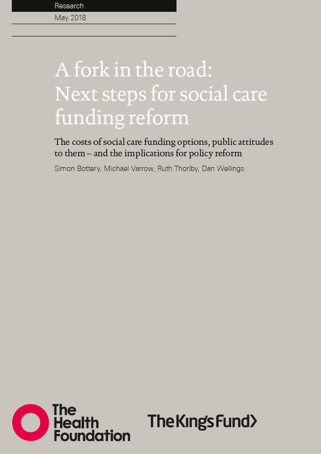 A fork in the road: next steps for social care funding reform