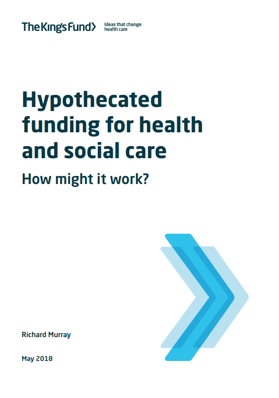 Hypothecated funding for health and social care - report cover