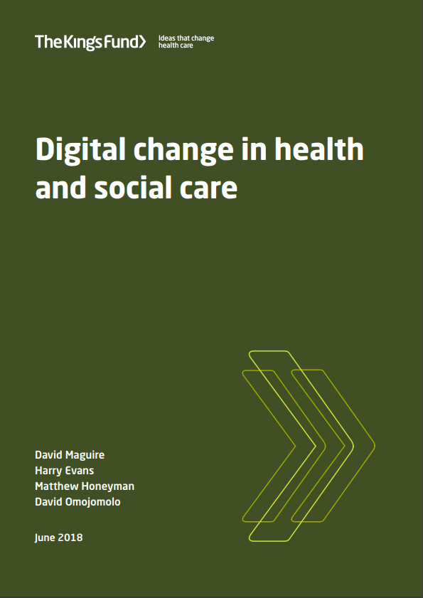 Digital change in health and social care - report cover