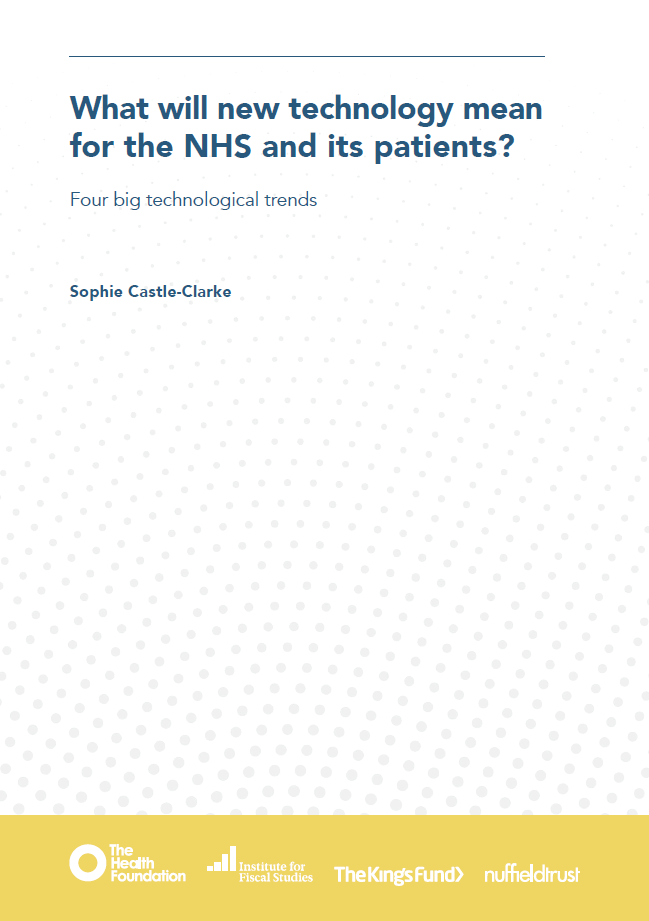 What will new technology mean for the NHS and its patients? - report cover