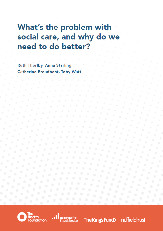 What's the problem with social care? - report cover