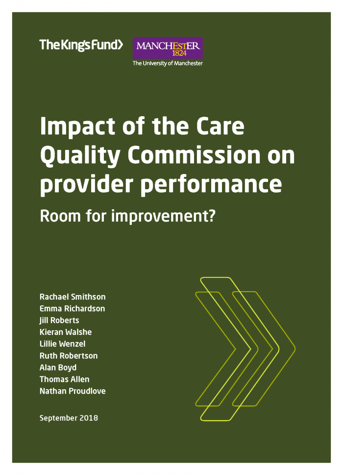 Impact of the Care Quality Commission on provider