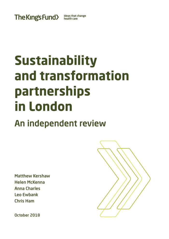 Sustainability and transformation partnerships in London: an independent review
