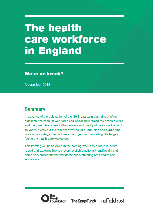 The health care workforce in England | The King's Fund