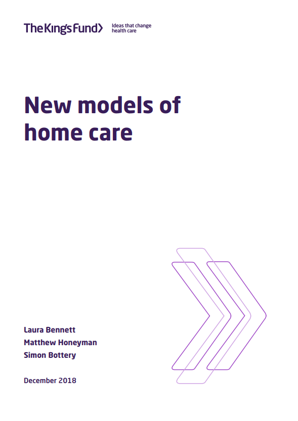 New models of home care - report cover