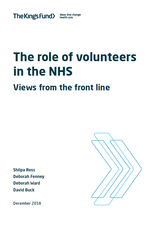 The role of volunteers in the NHS