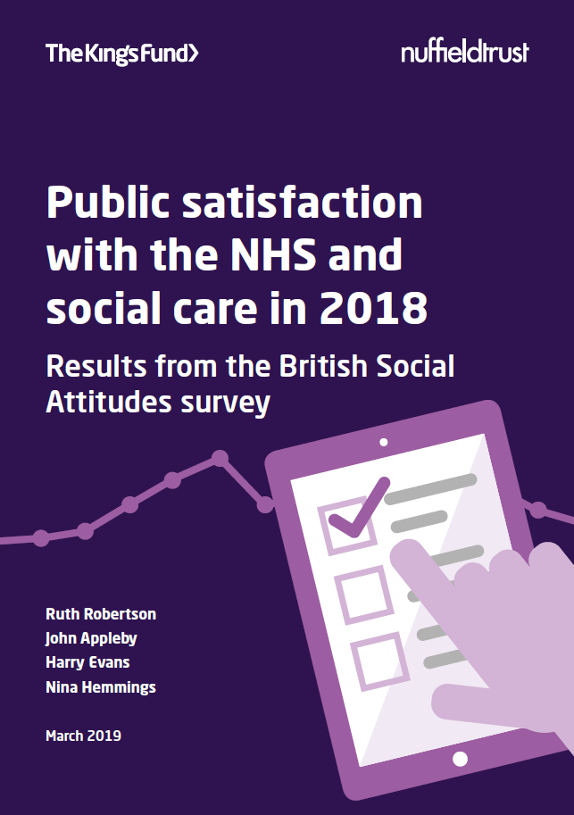dd51a25bf67 Public satisfaction with the NHS and social care in 2018