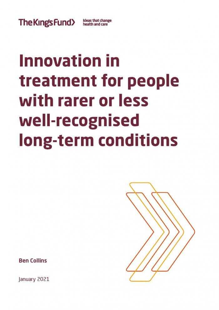 Innovation in treatment for people with rarer or less well-recognised long-term conditions