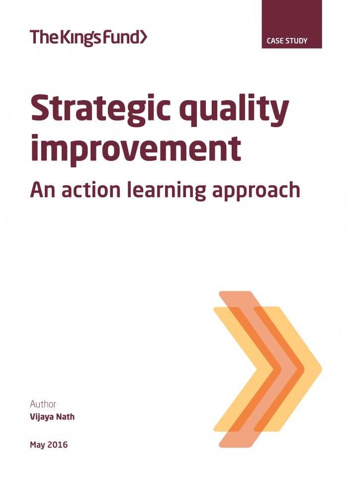Strategic quality improvement report front cover