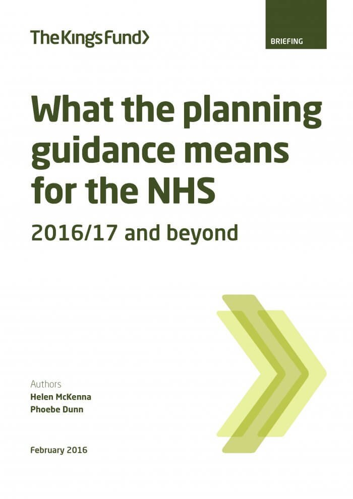 What the planning guidance means for the NHS