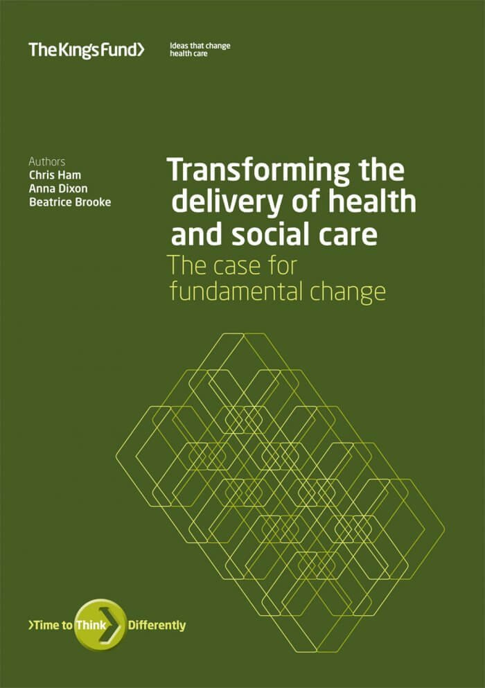 Transforming the delivery of health and social care report front cover