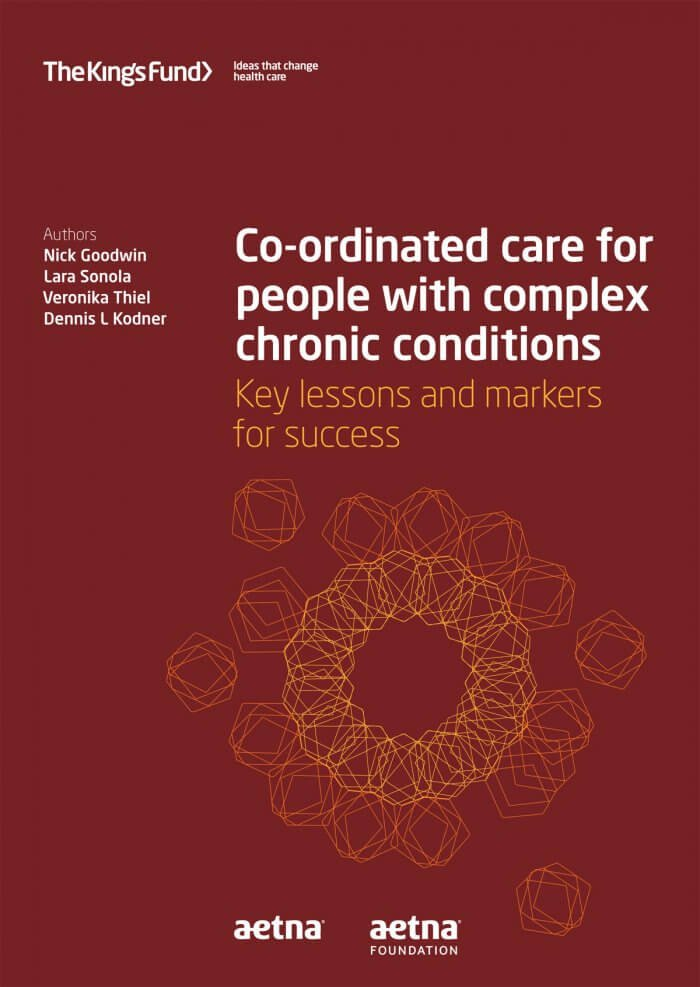 Co-ordinated care for people with complex chronic conditions front cover