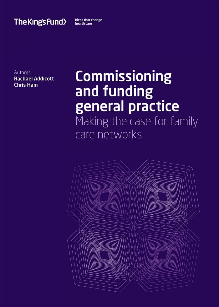 Commissioning and funding general practice front cover