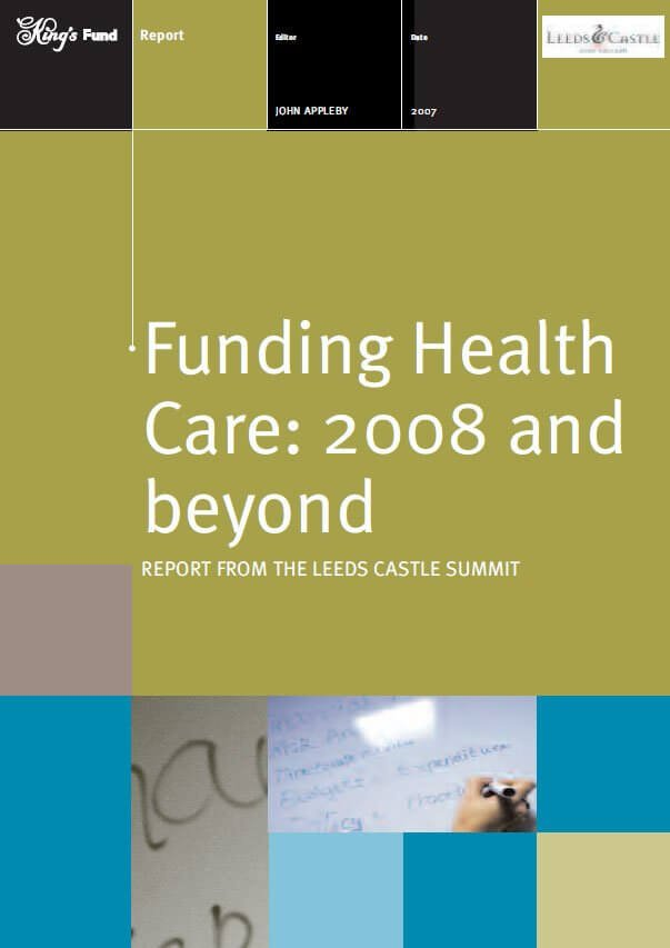 Funding health care 2008 report front cover