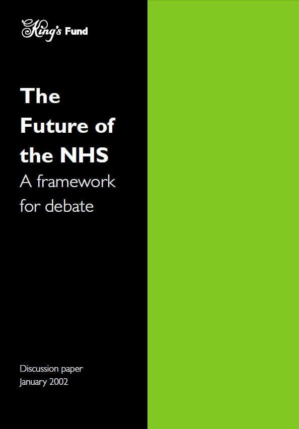 The future of the NHS front cover