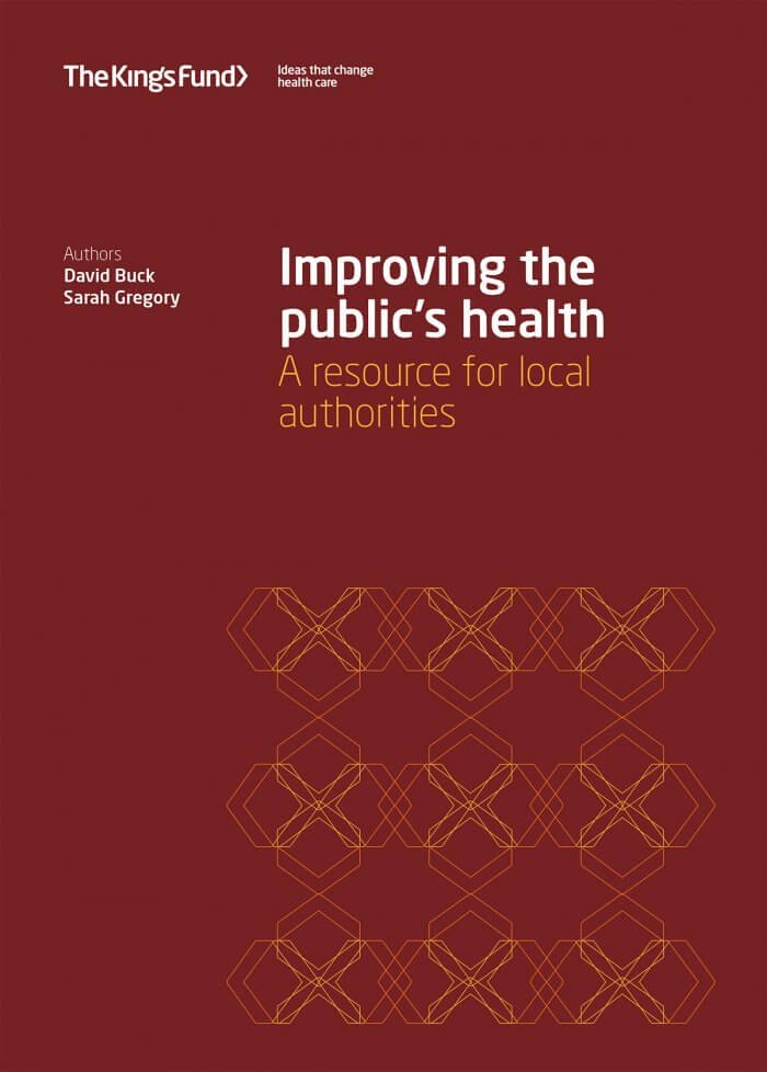 Improving the public's health front cover