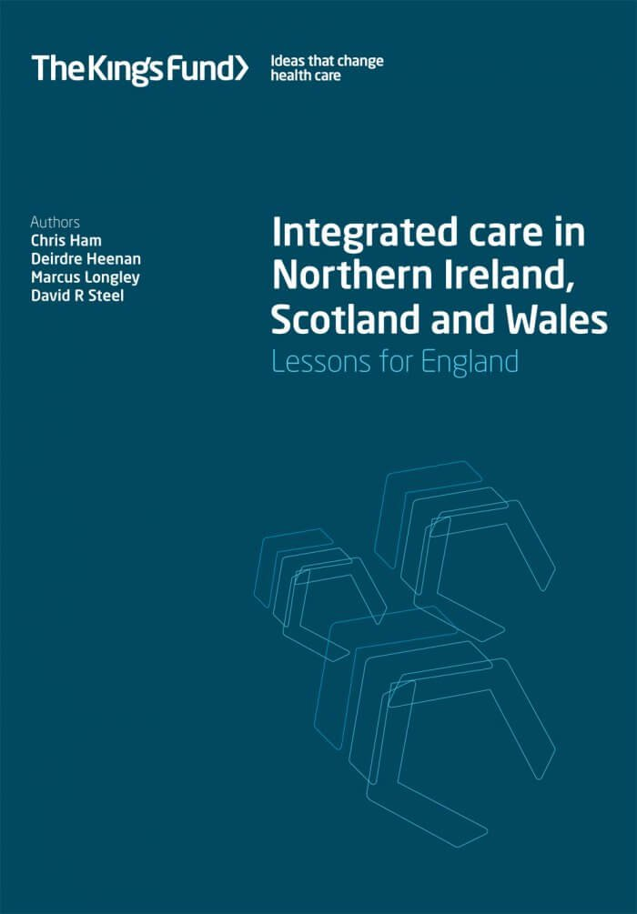 Integrated care in Northern Ireland, Scotland and Wales - front cover
