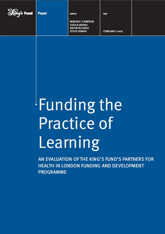 Front cover for Funding the Practice of Learning