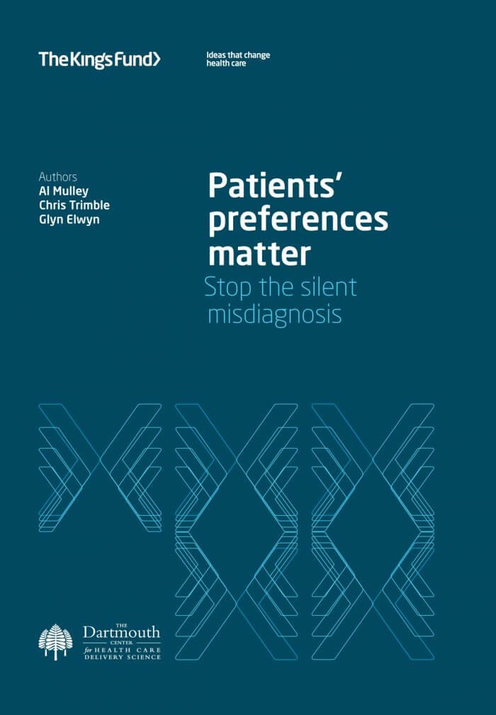 Patients' preferences matter report front cover