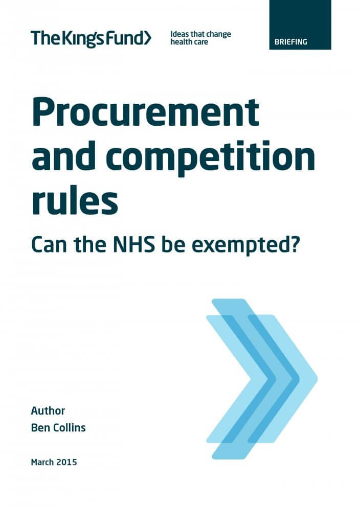Procurement and competition rules