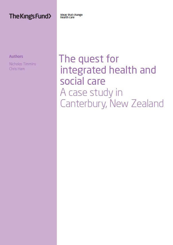 The quest for integrated health and social care report cover